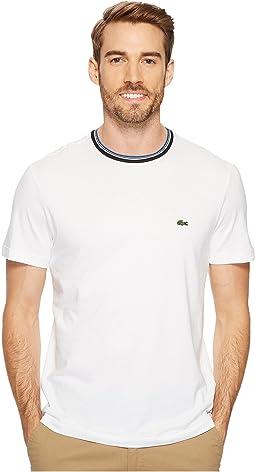 Lacoste - Short Sleeve Semi Fancy Jersey Tee - Regular Fit