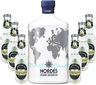 Nordes Atlantic Galician Gin aus Galizien 0,7l 40% Vol  6 x Fentimans Premium Indian Tonic Water 0,2l MEHRWEG inkl. Pfand- Enthält Sulfite