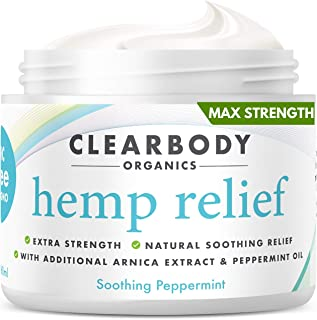 Hemp Pain Relief Cream- Made in USA Lab Tested Hemp Oil Formula for Arthritis, Back, Knee, Joint, Carpal Tunnel, Nerve, Mu...