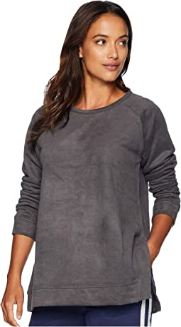 Truly Sueded French Terry Raglan Sleeve Pullover with Side Slit Detail