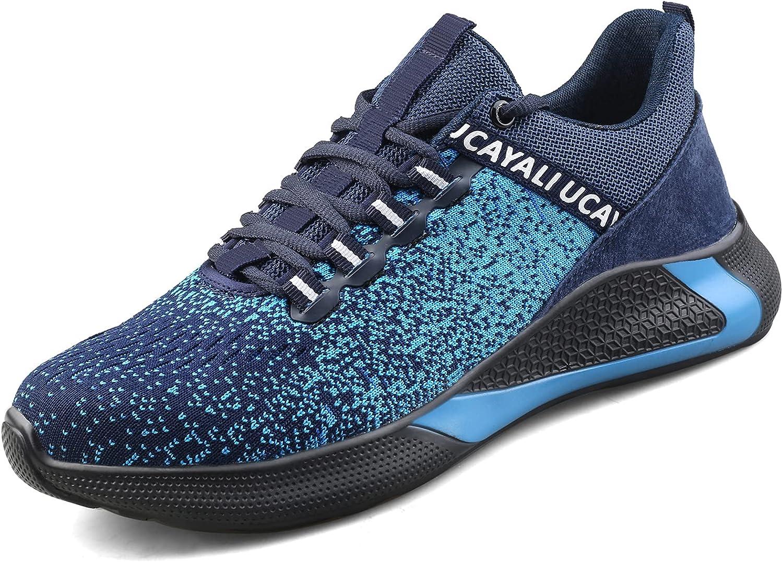 UCAYALI Zapatos de Seguridad Hombre Unisex Zapatillas de Trabajo con Puntera de Acero Calzado Antideslizante Transpirables Industriales