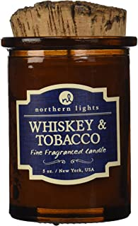 Northern Lights Candles Whiskey and Tobacco Spirit Candle 5 oz