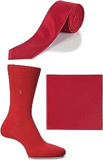 Men's SockShop Colour Burst Socks, Tie and Pocket Square Matching Set