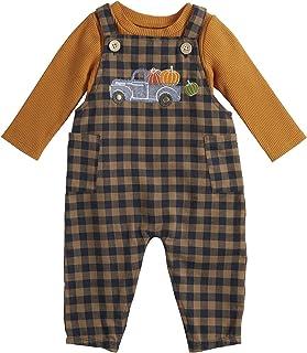 Mud Pie Baby Boys' Pumpkin Truck Overall Set