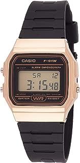 Casio Vintage Series Digital Gold Dial Men's Watch - F-91WM-9ADF (D142)