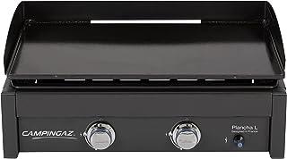 Campingaz Plancha Gaz L, 2 Brûleurs en Acier, BBQ de Table, Puissance 7.5kW, Grille Portable, Large Plancha à Revêtement A...