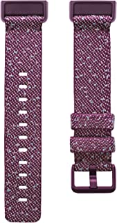 Fitbit Charge 4 Advanced Fitness Tracker Woven Accessory Band, Small - Rosewood