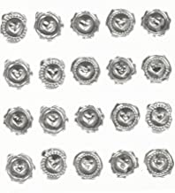 Darice David Tutera Illusion Silver Wax Seal Heart Stickers