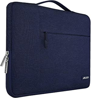 MOSISO Polyester Fabric Multifunctional Sleeve Briefcase Handbag Case Cover 15-15.6 Inch Blue MO-15-Poly-MB-NABU