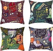 LYX Harry Potter Pillow, Peach Pillow Pillow Cushion Cover Peach Pillow Pillow Throw Pillowcase Home Decoration (4pcs) (Co...