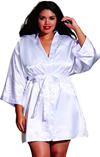 e5d8c7440bf Dreamgirl Women s Plus Size Shalimar Charmeuse Chemise with Robe   padded  Hanger