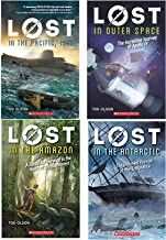 Lost by Tod Olson 4 Book Series Paperback (In the Pacific, 1942 ; In Outer Space; In The Amazon; and In the Antarctic)