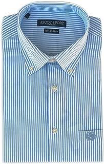 CAMICIE & dintorni Camisa de hombre Ascot Sport TG. M, L, XL, XXL, 3XL – Manga larga 100% algodón