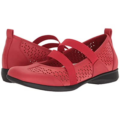 Trotters Josie (Red Embossed Leather) Women