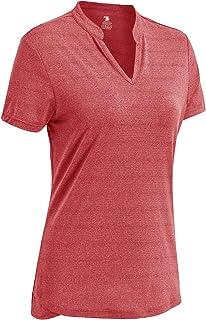 Women's Short Sleeve Tennis Shirts V-Neck Dry Fit...