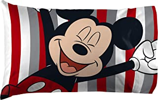 Best Jay Franco Disney Mickey Mouse Stripes 1 Pack Pillowcase - Double-Sided Kids Super Soft Bedding (Official Disney Product) Reviews