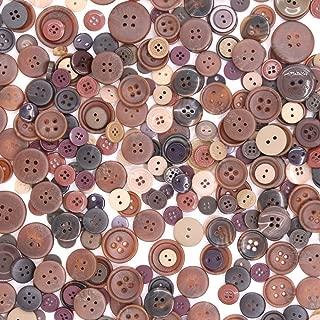 black craft buttons