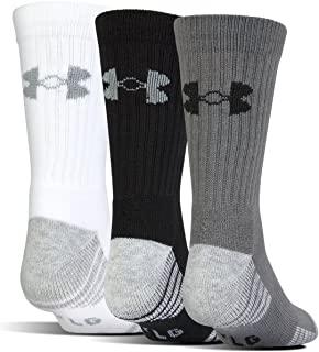 Under Armour Adult Heatgear Tech Crew Socks, 3-Pairs