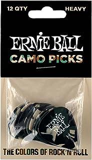 Ernie Ball P09223 Heavy Camouflage Cellulose Picks 12 Piece Bag, Heavy