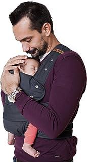 Aus Bio-Baumwolle marsupi Babytrage und Neugeborenen-Trage, Classic aus reiner Bio-Baumwolle, Version 2.0 grey/ grau, XL