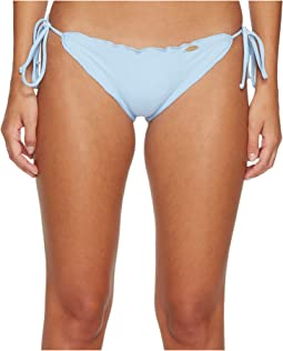 Cosita Buena Wavey Tie Side Ruched Full Bikini Bottom