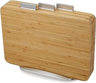 Joseph Joseph 60141 Index Bamboo Cutting Board Set of 3 Boards with Storage Stand Non-Slip