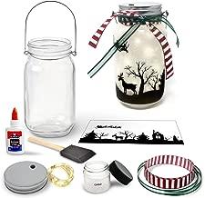Christmas Lantern Craft Kit - DIY Make Your Own Christmas Lantern Jar - Craft Project for Kids - Great Gift (Christmas)