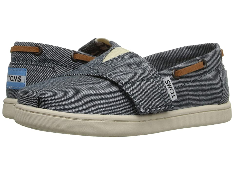 TOMS Kids Bimini Espadrille (Infant/Toddler/Little Kid) (Blue Chambray) Kids Shoes