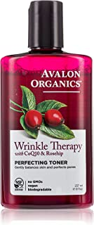 Avalon Organics Perfecting Toner, Wrinkle Therapy with CoQ10 & Rosehip, 8 Oz