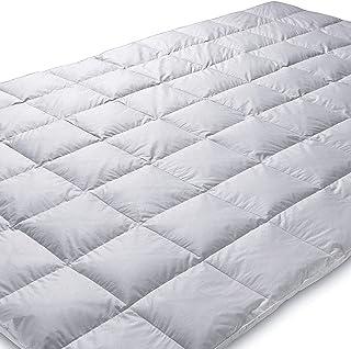 Königin der Nacht ORIGINAL EIDERDAUNE Bettdecke 140x200 cm, extra-leicht Sommer Wärmegrad 1, Füllgewicht: 140 g