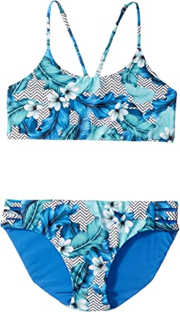 Seafolly Kids - Jungle Geo Reversible Tankini Set (Big Kids)