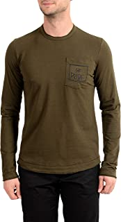 Gianfranco Ferre GF Men's Olive Green Long Sleeve T-Shirt US L IT 52