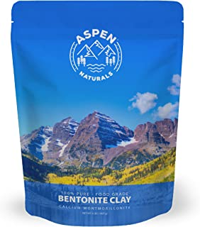 Food Grade Calcium Bentonite Clay - 2 LB Bentonite Montmorillonite Powder - Safe to Ingest for The Ultimate Internal Detox or Make a Clay Face Mask for The Best Natural Skin Healing Powder
