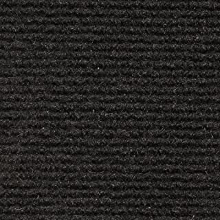 House, Home and More Indoor Outdoor Carpet with Rubber Marine Backing - Black - 6 Feet x 15 Feet