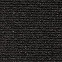 House, Home and More Indoor Outdoor Carpet with Rubber Marine Backing - Black - 6 Feet x 10 Feet