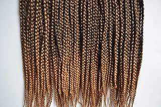 Leyoo Kanekalon Box Braid Crochet Hair 12 Inch (96 Roots/Box) Thin Box Braids Crochet Braids Hair Extension For Women (M 1B/27)