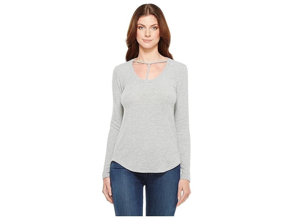 LNA Curved Bondage Sweater (Heather Grey) Women