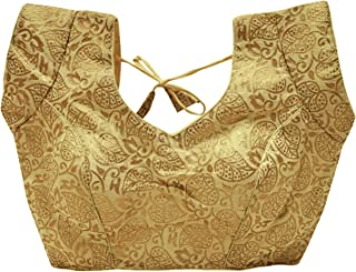 Women's Indian Traditional Padded Saree Blouse Stitched Choli Crop Top