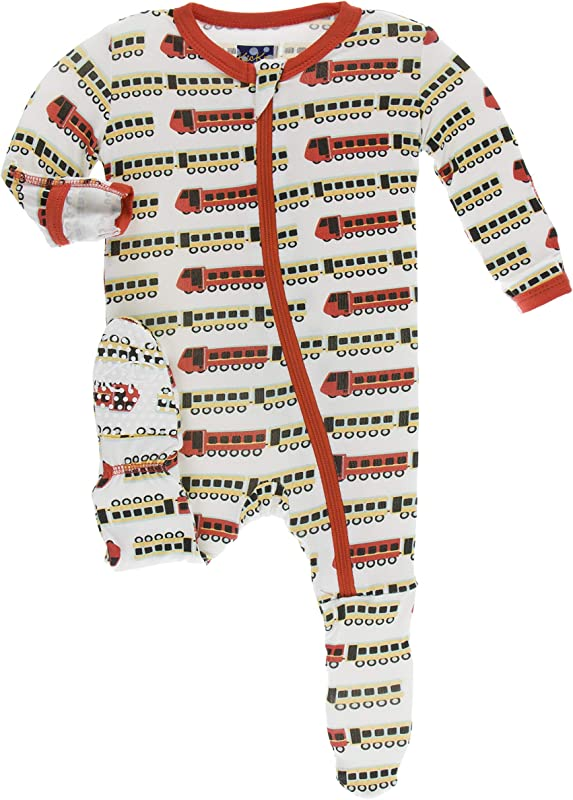Kickee Pants Print Footie With Zipper India Collection