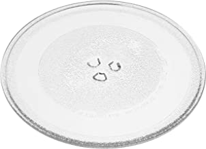 vhbw Placa de microondas de vidrio 25.5cm compatible con Balay 3CP5002B0, 3CP5002N0, 3WG365BIC microondas - plato giratorio con soporte en Y