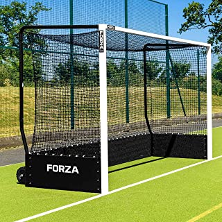 FORZA FIH Championship Field Hockey Goal – Full Sized Weatherproof Aluminum Field Hockey Goal with Puncture Proof Wheels [Net World Sport]