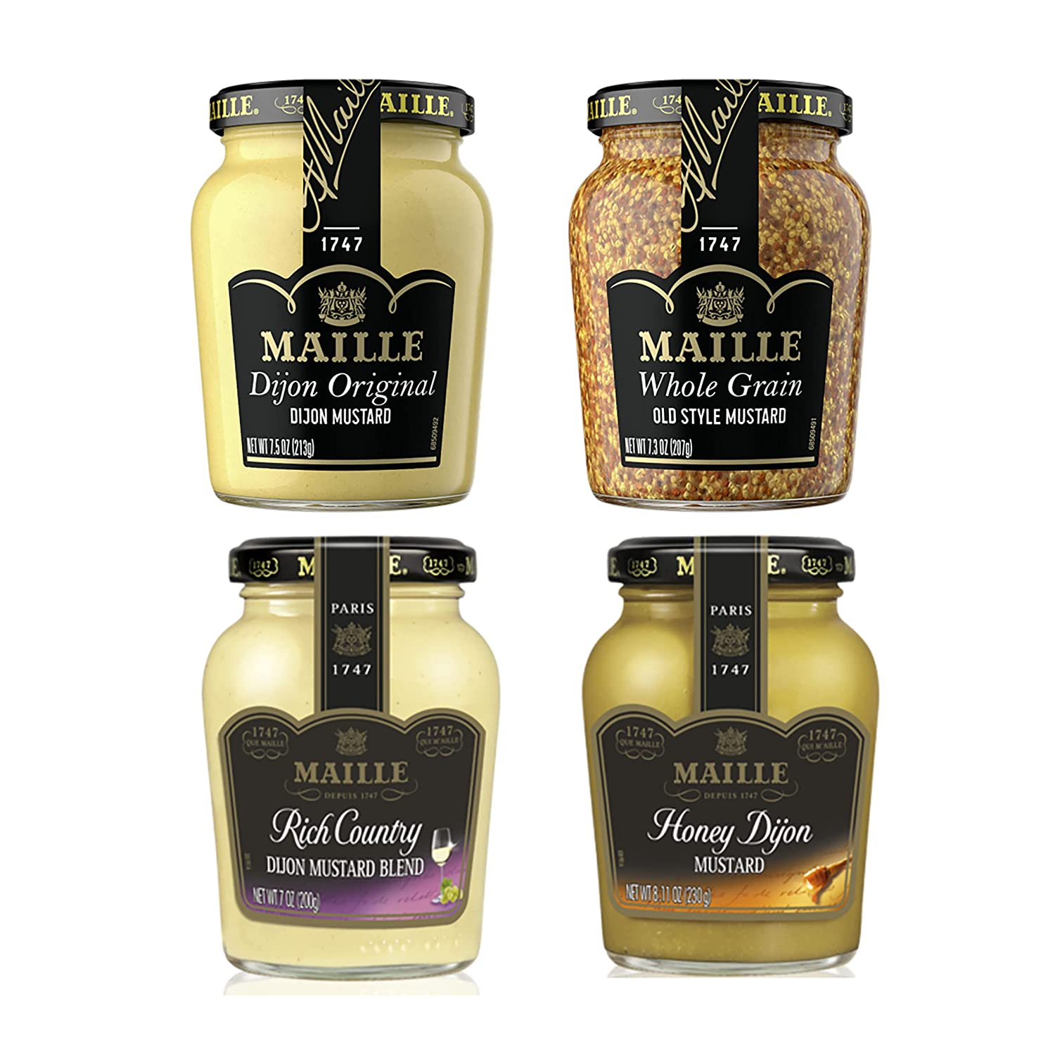 Maille Max Animer and price revision 89% OFF Mustard Variety Pack Count 4 7 Oz