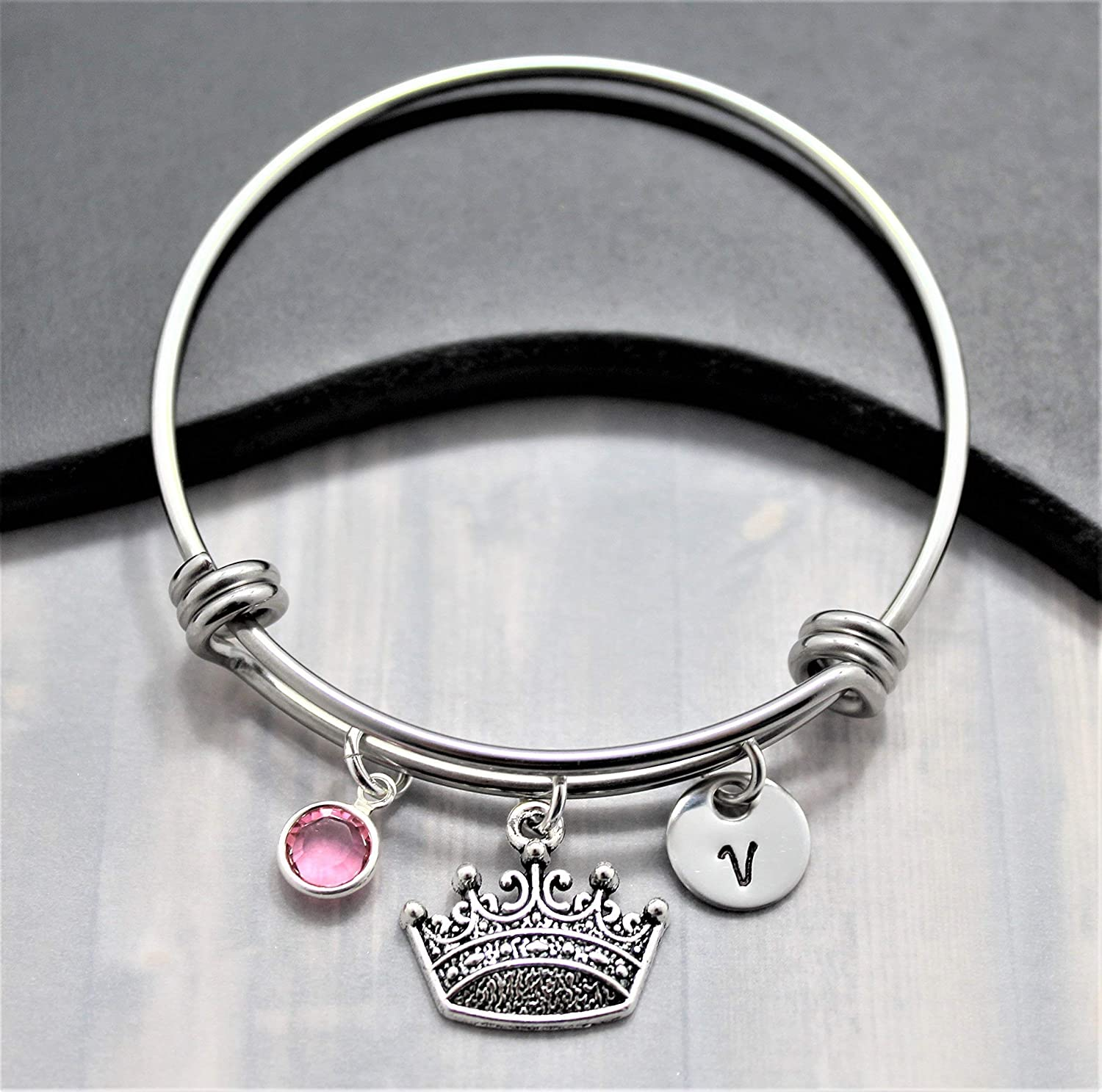 free Princess Crown Bracelet for Girls In Daily bargain sale Personalized Birthstone -