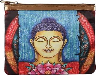 All Things Sundar Women's Silk Pouch (Multicolour)