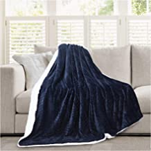 Micromink Flannel Throw Blanket, Reverses to Sherpa, Fuzzy Mink Cozy Warm Fluffy Velvety Home Fashion (60