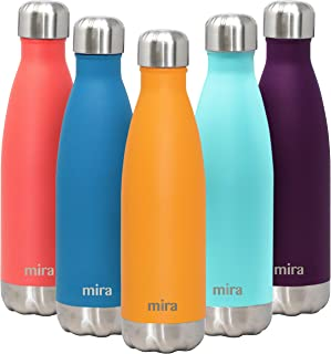 MIRA 17 Oz Stainless Steel Vacuum Insulated Water Bottle | Double Walled Cola Shape Thermos | 24 Hours Cold, 12 Hours Hot | Reusable Metal Water Bottle | Leak-Proof Sports Flask | Pumpkin
