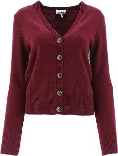GANNI Luxury Fashion Womens K1200PORTROYALE431 Burgundy Cardigan | Fall Winter 19