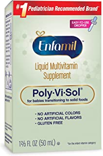 Enfamil Poly-Vi-Sol Liquid Multivitamin Supplement for Infants and Toddlers, 50 mL dropper bottle