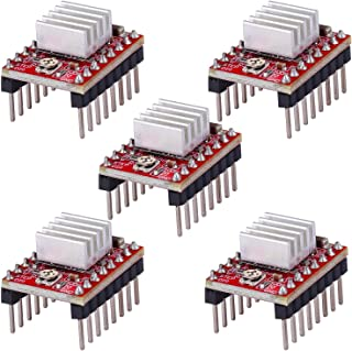 5 Pack A4988 Stepper Motor Driver Module with Heat Sink for 3D Printer Controller Ramps 1.4