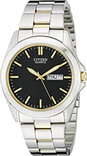 Citizen Men's Quartz Stainless Steel Watch with Day/Date, BF0584-56E